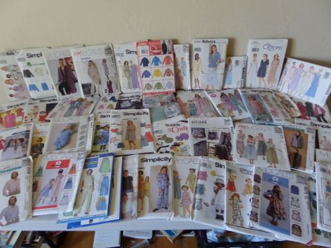 Lot Detail Old Button Collection Sewing Patterns Kids And Ladies