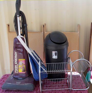 lot detail handy person lot chrome shelves sharp vacuum trash