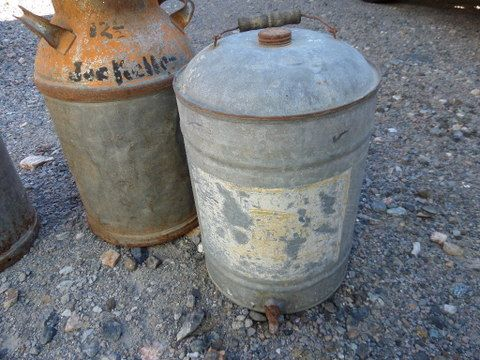 Very best Lot Detail - VINTAGE GALVANIZED MILK CANS AND WATER COOLER CL12