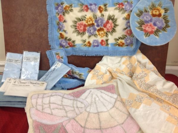 Lot Detail Variety Lot Peach Color Quilt Shell Rugs