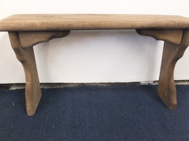 Lot Detail Rustic Bench Bookcase