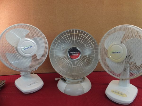 Windmere Table Fan : Lot detail two windmere quot fans and a heater