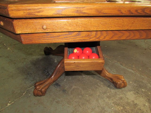 Lot Detail Awesome Solid Oak Multi Purpose Claw Foot