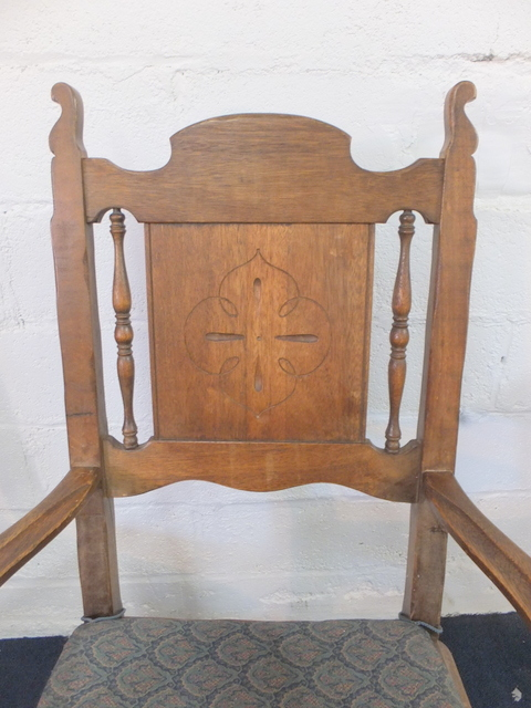 Lot Detail Antique Wood Table With Chairs By Karpen