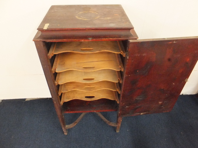 ... ANTIQUE SHEET MUSIC/ RECORD CABINET ... - Lot Detail - ANTIQUE SHEET MUSIC/ RECORD CABINET
