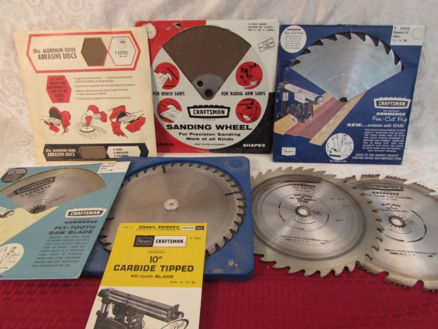 Lot detail five 10 saw blades sanding wheel and for 10 inch sanding disc table saw