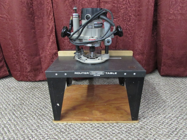 Lot detail porter cable plunge router craftsman router table porter cable plunge router craftsman router table keyboard keysfo Image collections