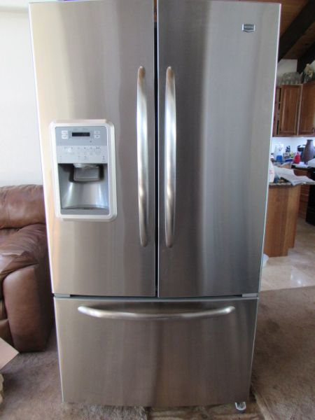 Lot Detail Maytag Stainless French Door Refrigerator