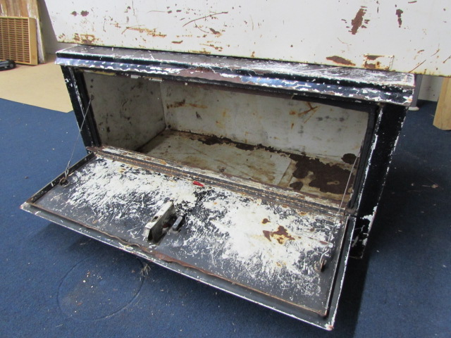 Lot detail two metal storage boxes for truck bed or - Pickup bed storage boxes ...