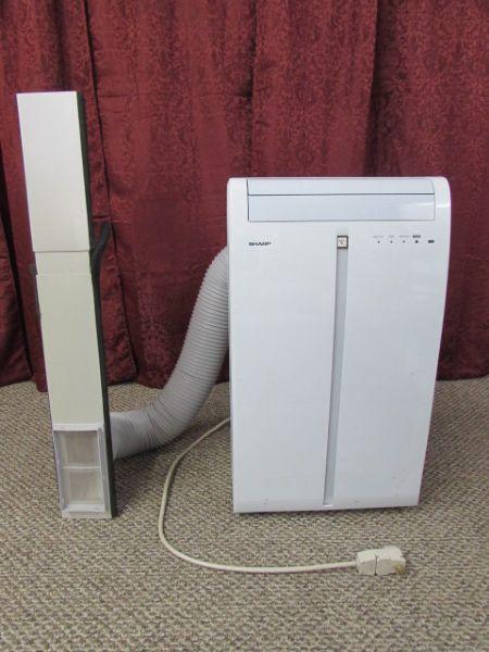 Lot Detail Sharp Portable Air Conditioner 9500 Btu H