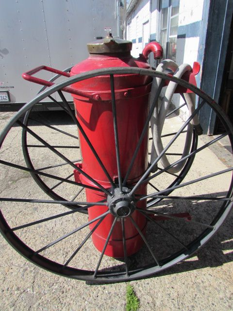 Rare Antique Wheeled Chemical Fire