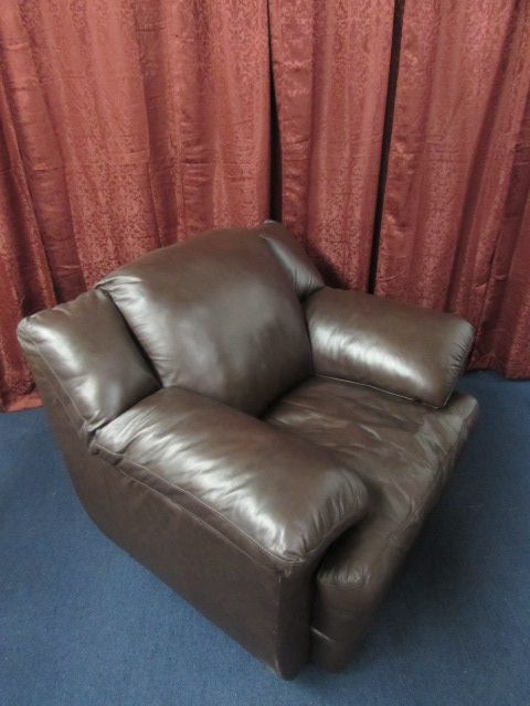 overstuffed leather chair chairs