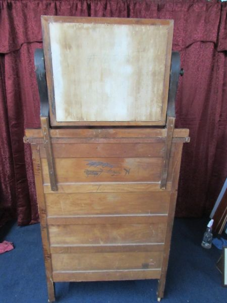 Lot Detail Antique Dresser With Attached Pivoting Mirror