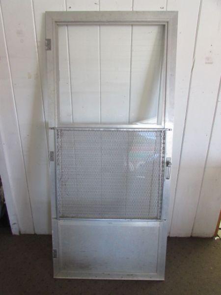 Lot detail aluminum storm door for All glass storm door