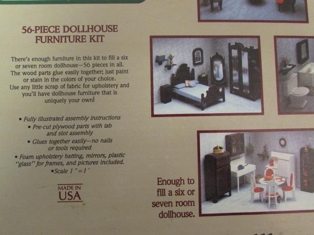 Lot Detail - VINTAGE DOLL HOUSE & FURNITURE KITS