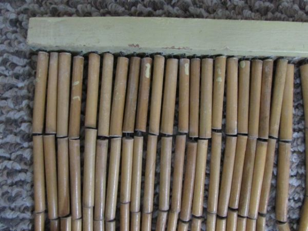 lot detail vintage bamboo privacy door screen