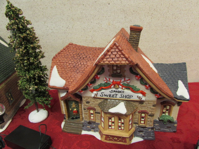 christmas village ceramic houses figures