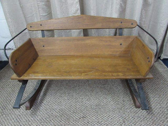 Antique Buggy Seats : Lot detail antique buckboard buggy seat bench
