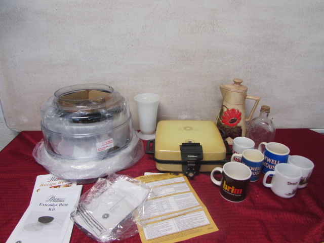 Lot Detail - NUWAVE INFRARED OVEN, WAFFLE MAKER, COLLECTIBLE MUGS & MORE