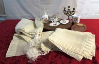 ELEGANT BEADED TABLE CLOTH, RUNNER, PLACEMATS & MORE