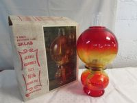 ABSOLUTELY STUNNING RED HURRICANE LAMP