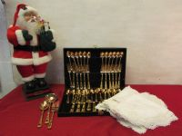 GORGEOUS GOLD PLATED FLATWARE & MORE