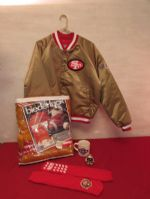 GO FORTY NINERS! JACKET, SPORTS BLANKET & MORE!
