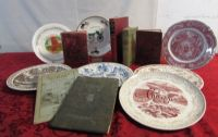 ANTIQUE BOOKS & TRANSFERWARE PLATES