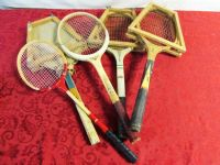 VINTAGE WOODEN TENNIS RACKETS