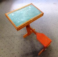 ABC, 123! VINTAGE CHILDS CHALKBOARD DESK