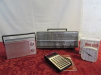 VINTAGE ELECTRONICS! TWO RADIOS, ALARM CLOCK AND CALCULATOR