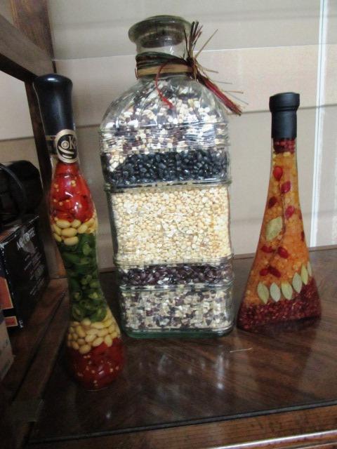 Lovely Kitchen D Cor Large Jar Of Decorative Beans 2 Pickled Vegie Jars