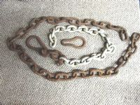 HEAVY DUTY IRON SHIP CHAINS.