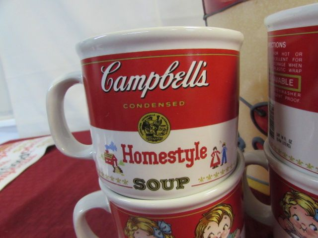 Lot Detail - VINTAGE CAMPBELL SOUP HANGING LIGHT, MUGS, COLLECTOR\'S ...
