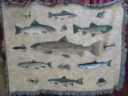 NICE FLY FISHING THROW BLANKET