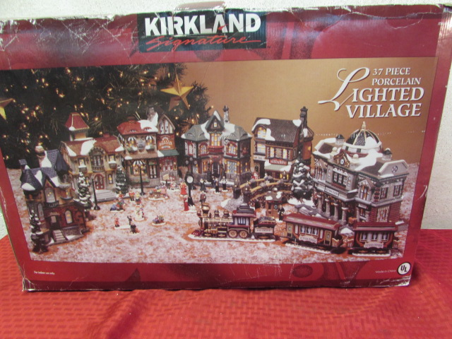beautiful 37 piece porcelain christmas village