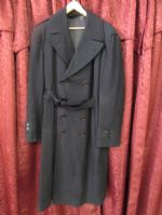 VINTAGE NAVY PEA COAT WITH REMOVABLE LINER
