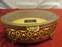 EXQUISITE 24K GOLD PLATED JEWELERY BOX