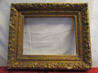 LARGE ANTIQUE GOLD GILT GESSO PICTURE FRAME