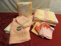 BRIGHT & CHEERFUL! NEVER USED BATH TOWELS & SHEET SET