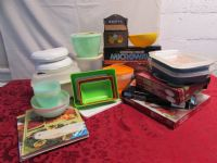 STEAK IN THE MICROWAVE! MICROWARE COOKWARE, TUPPERWARE, STORAGE CONTAINERS & COOKBOOKS