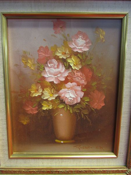 Lot Detail Original Signed Oil Painting By Listed Artist Robert Cox In Matching Dimensional
