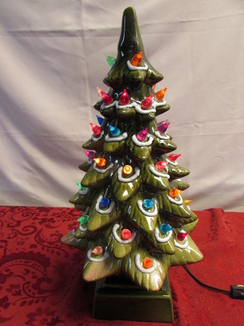 Retro Ceramic Christmas Tree With Lights