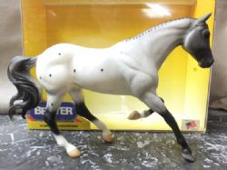 BREYER TRADITIONAL SCALE MODEL HORSE, GREY APPALOOSA SPORT HORSE