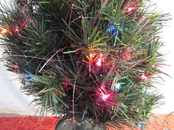 "BRIGHT & CHEERFUL 48"" FIBER OPTIC CHRISTMAS TREE"