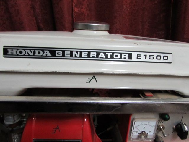 HONDA E 1500 GENERATOR WITH DOLLY SEE IT RUN ON THE AUCTIONS FACEBOOK PAGE