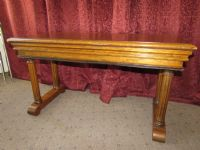 GORGEOUS ANTIQUE CARVED WALNUT PIANO BENCH