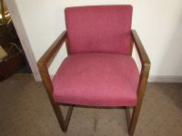 MATCHING WOOD FRAMED UPHOLSTERED OFFICE CHAIR