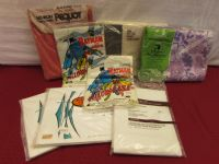 NEVER OPENED BED LINENS INCLUDES BATMAN & ROBIN PILLOW CASES!  POW!