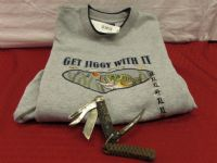 GET JIGGY WITH IT - NEW MENS FISHING SEATSHIRT & KNIFE W/GAFF